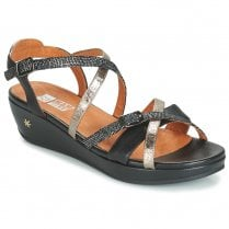 Mamzelle Liza Black Wedge Sandal