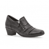 Gabor Tucson Leather Low Block Heel Ankle Boots - Black