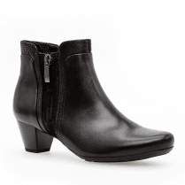 Gabor Glove St.Tropez Low Heeled Ankle Boots - Black