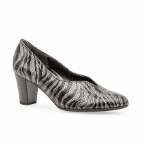 Gabor Womens Court Mid Heel Zebra Comfort Fashion Court Shoes