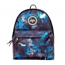 Hype Blue Black Erosion A4 Backpack BTS19024