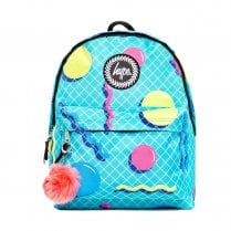 Hype Turquoise Blue Retro Shapes Backpack BTS19038