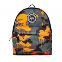 Hype Yellow Grey Green Camo Drips Backpack BTS19521