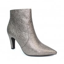 Lunar Gala Pewter Metallic Heeled Fashion Ankle Boots
