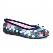 Lunar Womens Magic Pump Slippers KLA095 - Blue