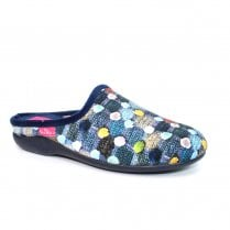 Lunar Womens Crackle Slip On Slipper KLA096 - Blue