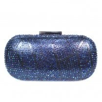 Lunar Francie Gemstone Hand Bag - Navy