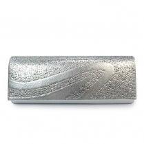 Lunar Womens Hally/Miley Clutch Handbag - Silver