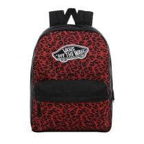 Vans Realm Backpack - Black/Red Wild Leopard