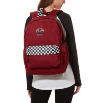 Vans Burgundy Checkered Backpack