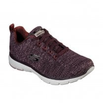 Skechers Womens Flex Appeal 3.0 High Tides Mesh Sneakers - Burgundy