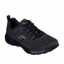 Skechers Womens Flex Appeal 3.0 High Tides Mesh Sneakers - Black