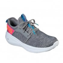 Skechers Womens GOrun Fast Lively Mesh Sneakers - Grey