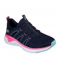 Skechers Womens Solar Fuse Electric Pulse Mesh Sneakers - Navy
