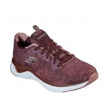 Skechers Womens Solar Fuse Brisk Escape Mesh Sneakers - Burgundy