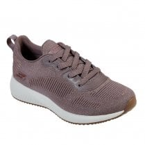 Skechers Womens Bobs Sport Squad Glam League Mesh Sneakers - Mauve