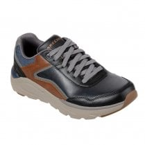 Skechers Mens Relaxed Fit Verrado Crafton Lace Up Sneakers Shoes - Navy/Tan/Grey