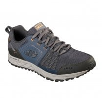 Skechers Mens Escape Plan Lace Up Sneakers Shoes - Navy