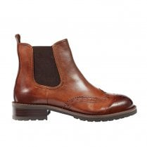 Regarde Le Ciel Petra Brogues Cognac Chelsea Leather Boots