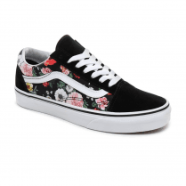 Vans Womens Black Multi Garden Floral Old Skool Low Trainers