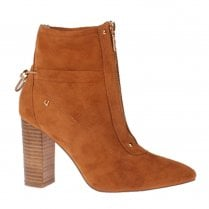 Una Healy Pure Shores Hazelnut High Heeled Suede Boots - Tan
