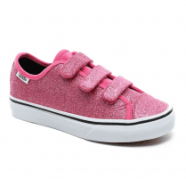 Vans Kids Glitter Style 23 Velcro Trainers Shoes - Pink