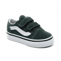 Vans Kids Toddler Old Skool Velcro Trainers Shoes - Green