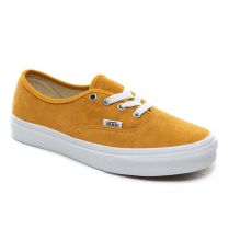 Vans Yellow Mango Pig Suede Authentic Leather Trainers