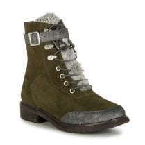 EMU Waldron Waterproof Lace Up Suede Leather Boots - Dark Olive