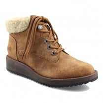 Blowfish Womens Comet Carmel Tan Lace Up Ankle Fur Boots