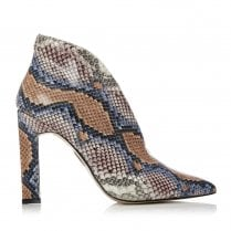 Moda In Pelle Weldi Multicoloured Snake Print High Heeled Ankle Boots