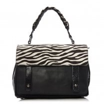 Moda In Pelle Felicitebag Multi Animal Zebra Leather Bag