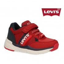 Levi's Kids Oregon Red Velcro Sneakers