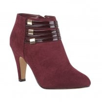 Lotus Womens Burgundy Nell Heeled Shoe Boots