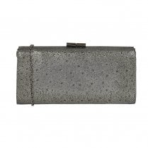 Lotus Womens Pewter Diamante Chandra Occasion Clutch Bag
