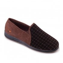 Padders Men's Albert Brown Full Slippers