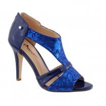 Barino Occasion Blue Back Zip High Heel Sandals - 474