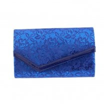 Barino Womens Blue Fabric Clutch Bag - 474