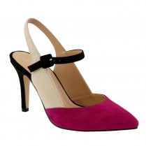 Barino Fuchsia Nude Occasion High Heeled Court Shoes - 482