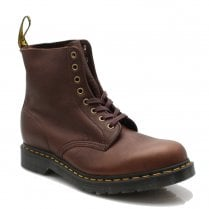 Dr Martens Mens Brown Soft Leather Ankle Lace Up Boots