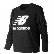 New Balance Womens Black Long Sleeve Crew Sweatshirt