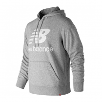 New Balance Mens Grey Long Sleeve Archive Hoodie Sweatshirt
