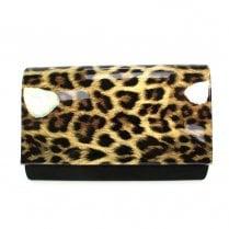 Lunar Womens Leah Deja Nadine Handbag - Black leopard