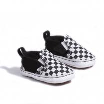 Vans Black White Infant Checker Slip-On V Crib Shoes