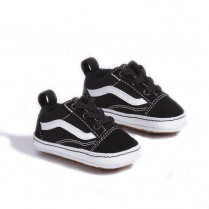Vans Black Suede Infant Old Skool Crib Shoes