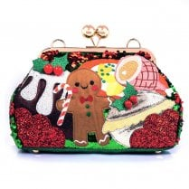 Irregular Choice Christmas Collection 'Dinner is Served' Bag - Multi Red Green