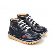 Kickers Kick Hi Classic Infant Boots - Navy