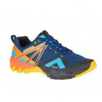 Merrell Mens MQM Flex GORE -TEX Trainers - Blue/Orange