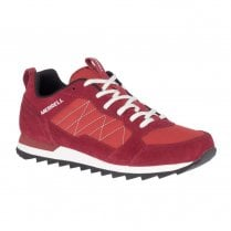 Merrell Mens Alpine Red Suede Sneakers
