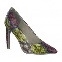 Marco Tozzi Pointed Court High Heels - Multi